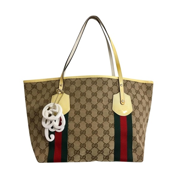 a68440a3deaf Gucci Bags | Authentic Brown Monogram Canvas Tote Yellow | Poshmark